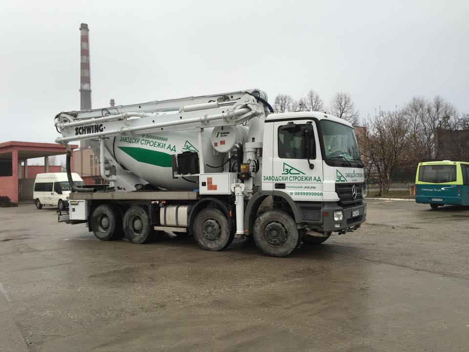 Производство на бетон,циментови и варови р-ри